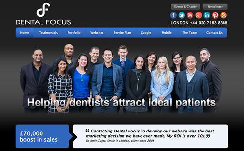 Krishan Joshi - Dental Website Design