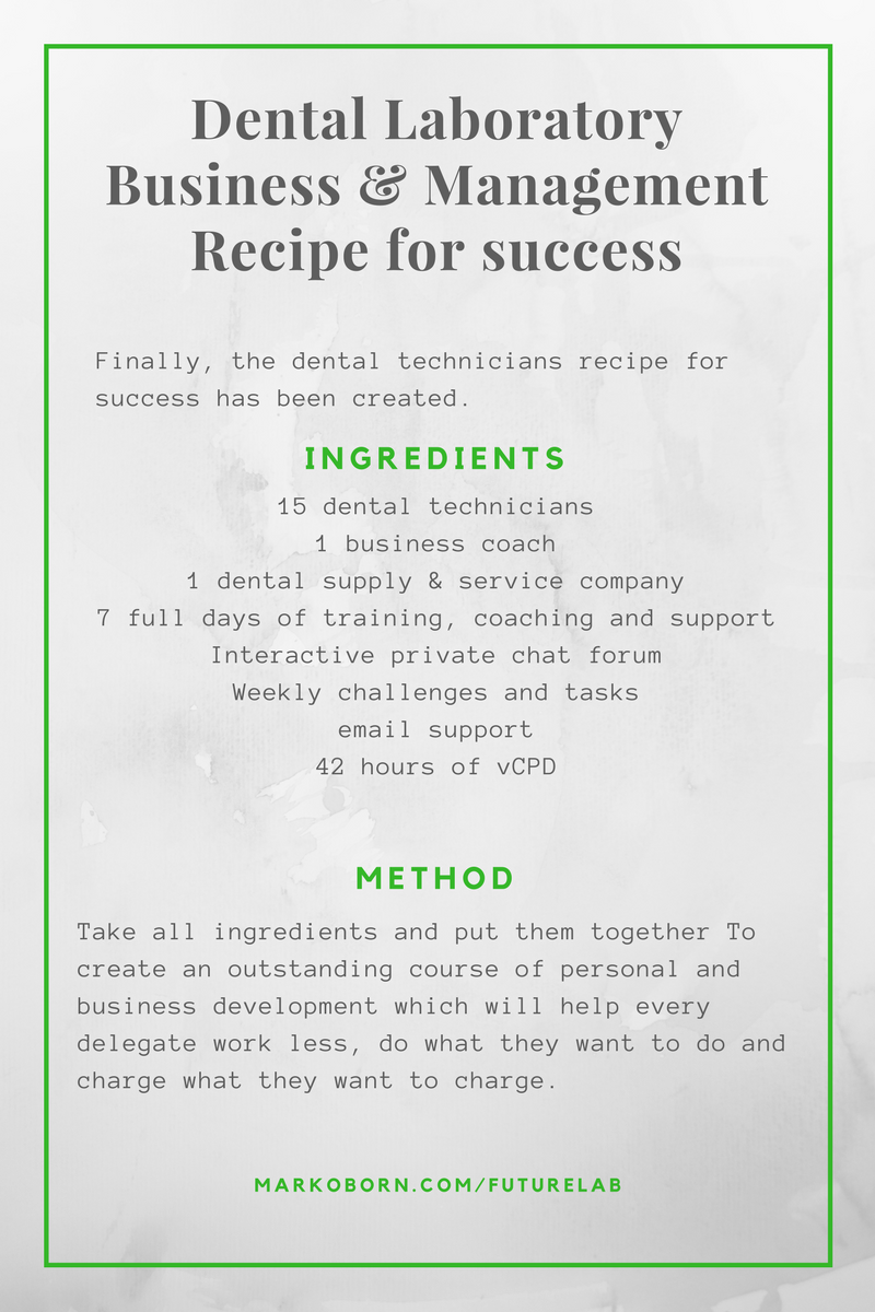Dental laboratory management business course recipe for success malvernweather Gallery